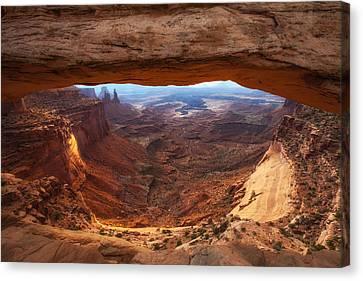 Mesa Sunrise Window Canvas Print by Darren  White
