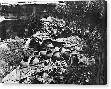 Mesa Verde Explorations Canvas Print by Underwood Archives