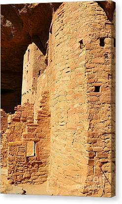 Mesa Verde National Park Cliff Palace Pueblo Anasazi Ruin Dwellings Vertical Canvas Print by Shawn O'Brien