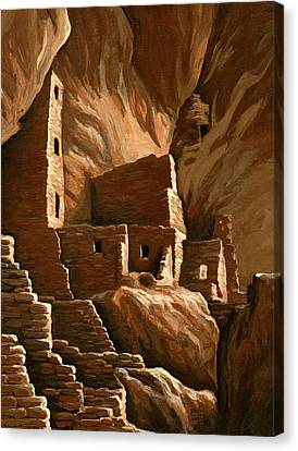 Mesa Verde Tower House Canvas Print by Darla Hallmark