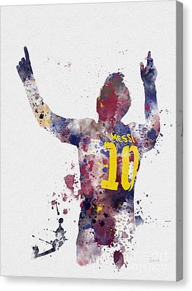 Messi Canvas Print by Rebecca Jenkins