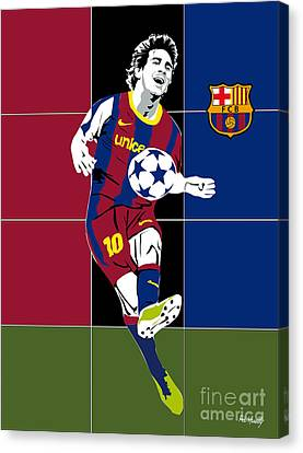 Messi Canvas Print by Roby Marelly