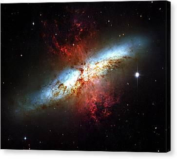 Messier 82 Canvas Print by Ricky Barnard