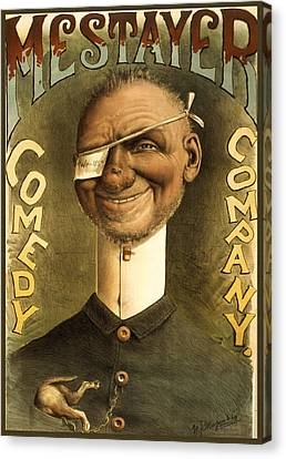 Mestayer Comedy Company Canvas Print by Aged Pixel