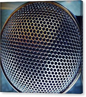 Metal Mesh Canvas Print by Les Cunliffe