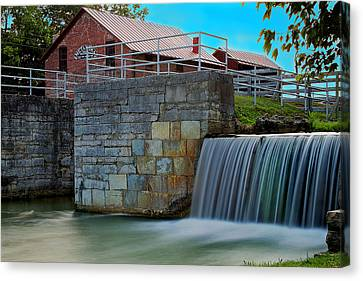 Metamora Waterfall Canvas Print by Chuck Campbell