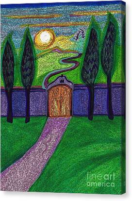 Metaphor Door By Jrr Canvas Print by First Star Art