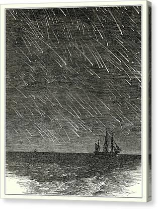 Meteor Shower Canvas Print by Detlev Van Ravenswaay