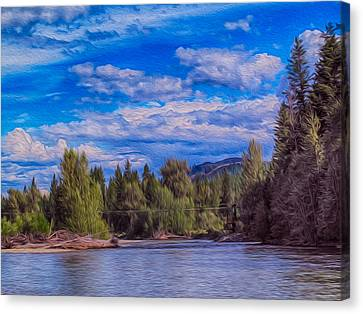 Methow River Crossing Canvas Print by Omaste Witkowski