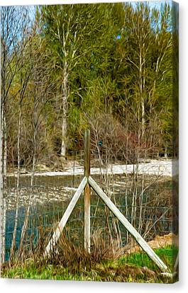 Methow River Springtime Canvas Print by Omaste Witkowski