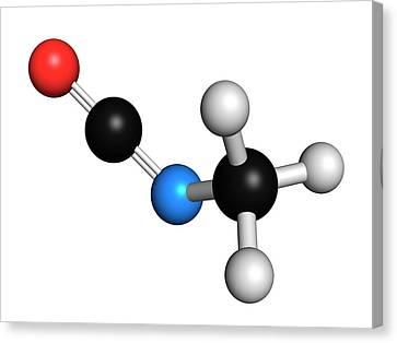 Methyl Isocyanate Mic Toxic Molecule Canvas Print by Molekuul