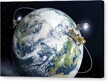 Metop-second Generation Satellites Canvas Print by Esa-p. Carril