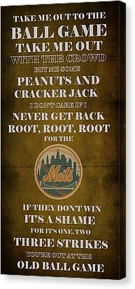 Mets Peanuts And Cracker Jack  Canvas Print by Movie Poster Prints