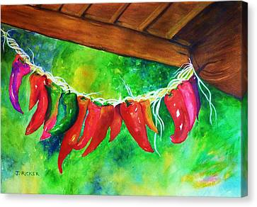 Mexican Jalapeno Peppers Canvas Print by Jane Ricker