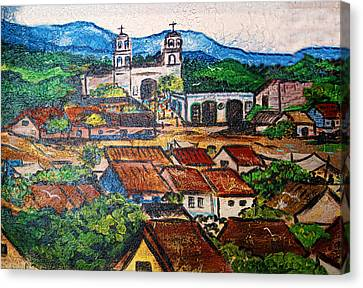 Mexican Mural Canvas Print by Linda Phelps