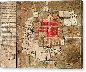 Mexico City Urban Development Canvas Print by Library Of Congress