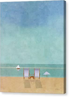 Mgl - Bathers 02 Canvas Print by Joost Hogervorst