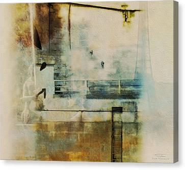 Mgl - City Collage - Paris 05 Canvas Print by Joost Hogervorst