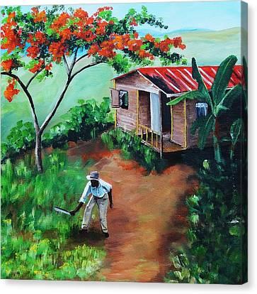 Mi Flamboyan Canvas Print by Migdalia Bahamundi