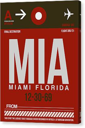 Mia Miami Airport Poster 4 Canvas Print by Naxart Studio