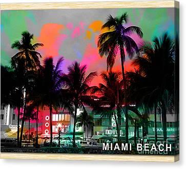 Miami Beach Canvas Print by Marvin Blaine