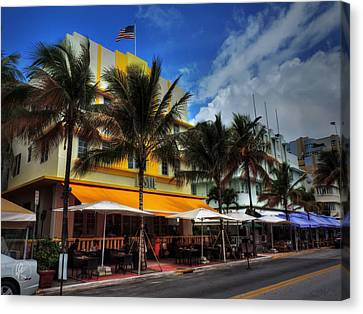 Miami - Deco District 011 Color Canvas Print by Lance Vaughn