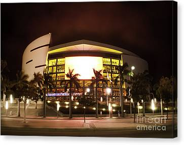 Miami Heat Aa Arena Canvas Print by Andres LaBrada