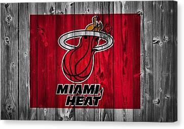 Miami Heat Barn Door Canvas Print by Dan Sproul