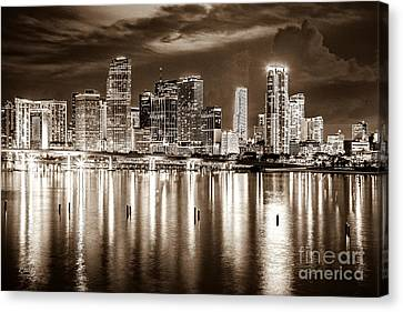 Miami Reflections Canvas Print by Rene Triay Photography