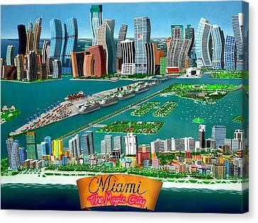 Miami Sizzle Canvas Print by Brett Sauce