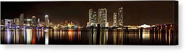 Miami - Skyline Panorama Canvas Print by Brendan Reals