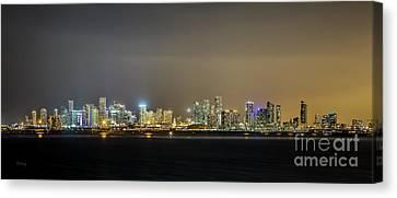 Miami Skyline View II Canvas Print by Rene Triay Photography