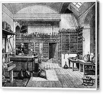 Michael Faraday In His Lab Canvas Print by Cci Archives