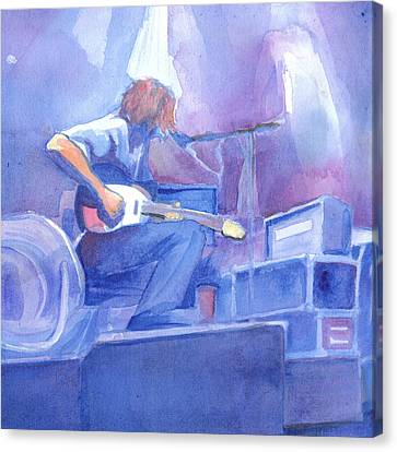 Michael Houser From Widespread Panic Canvas Print by David Sockrider