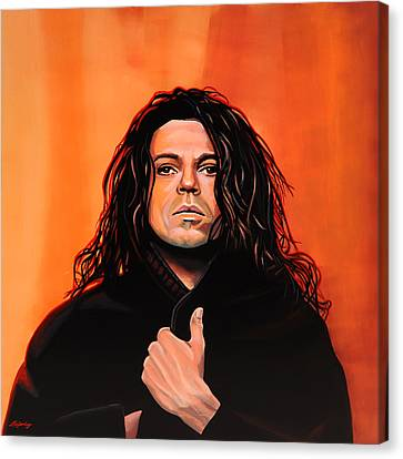 Michael Hutchence Painting Canvas Print by Paul Meijering