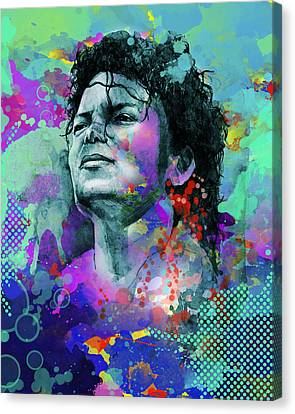 Michael Jackson 12 Canvas Print by Bekim Art