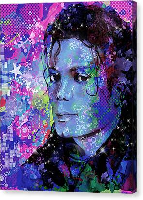 Michael Jackson 17 Canvas Print by Bekim Art