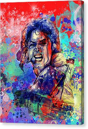 Michael Jackson 8 Canvas Print by Bekim Art