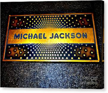 Michael Jackson Apollo Walk Of Fame Canvas Print by Ed Weidman