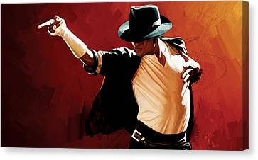 Michael Jackson Artwork 4 Canvas Print by Sheraz A