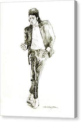 Michael Jackson Billy Jean Canvas Print by David Lloyd Glover