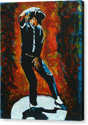 Michael Jackson Dancing The Dream Canvas Print by Patrick Killian