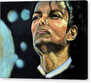 Michael Jackson Canvas Print by Maria Schaefers