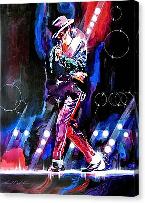 Michael Jackson Moves Canvas Print by David Lloyd Glover