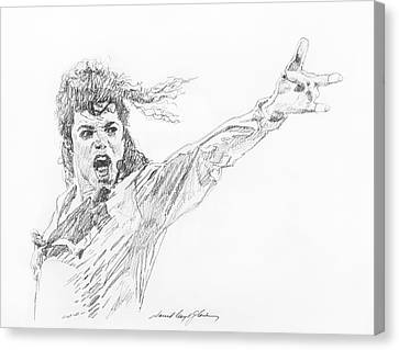Michael Jackson Power Performance Canvas Print by David Lloyd Glover