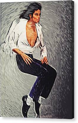 Michael Jackson Canvas Print by Taylan Soyturk