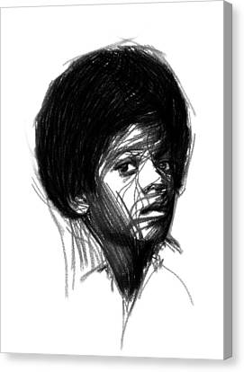 Michael Jackson- The Early Years Canvas Print by Stefan Kuhn