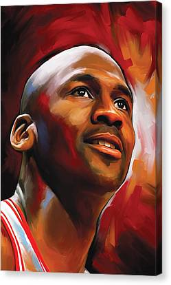 Michael Jordan Artwork 2 Canvas Print by Sheraz A