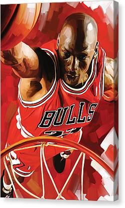 Michael Jordan Artwork 3 Canvas Print by Sheraz A
