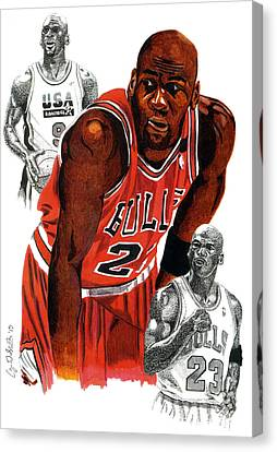 Michael Jordan Canvas Print by Cory Still